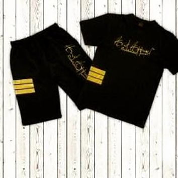 Black and Gold Short set