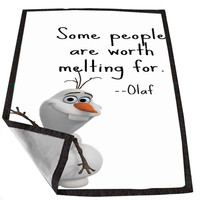 Quote Disney Frozen Olaf for Kids Blanket, Fleece Blanket Cute and Awesome Blanket for your bedding, Blanket fleece *02*