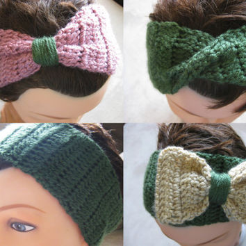 4 Headband Patterns - Women's Thick Crochet Headbands