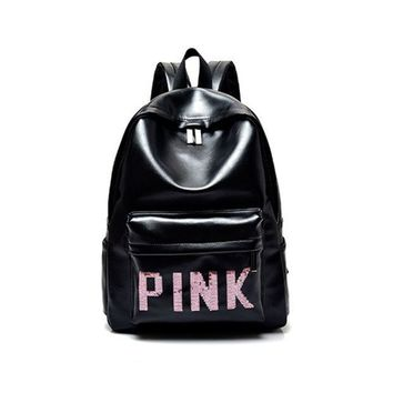 CREYONMI Victoria s Secret PINK : Casual Sport Laptop Bag Shoulder School Bag Backpack