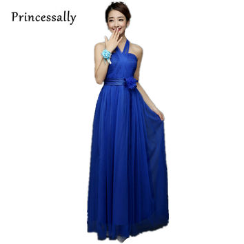 Royal Blue Bridesmaid Dresses Long Strapless Cheap Under 30 Prom Party Gown Hot Pink Vestido De Noiva Festa Longo Elegant Teens