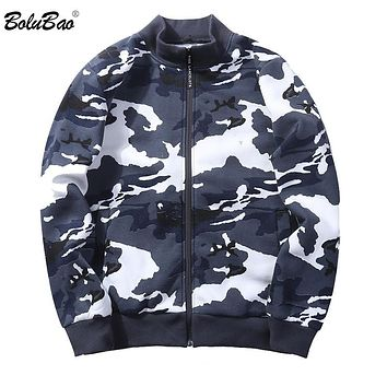 BOLUBAO Camouflage Jacket Men 2018 New Brand Camo Mens Bomber Jackets Hip Hop Mens Jackets and Coats Pilot Windbreaker Man