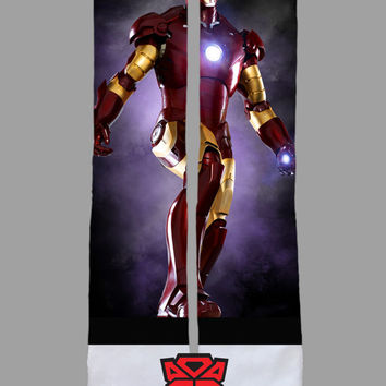 Iron Man - Marvel Comics - Avengers - Custom Socks - Socktimus Prime - Iron Man Floating