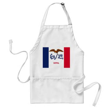 Apron with Flag of Iowa, U.S.A.