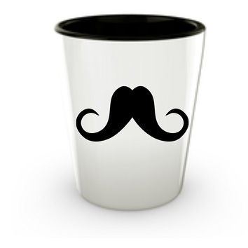 Mustache Shot Glass Set - Themed Funny Gag Gifts for Guys