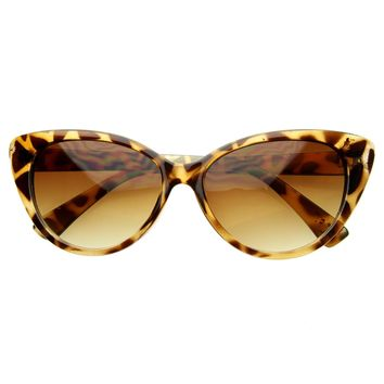 Super Cat Eye Sunglasses  Fashion Womens Oversized Cateyes