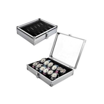 6/12 Grid Slots Jewelry Watches Display Storage Box Case Aluminium Square NEW 1ZDCP11722
