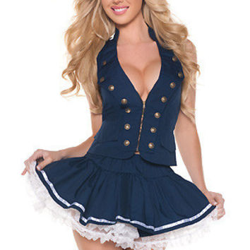 Navy Hats Cosplay Anime Cosplay Apparel Holloween Costume [9211506244]