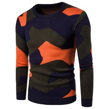 Pullover Men Brand Fashion Camouflage Slim Fit Quality Winter Sweaters Men Mens Christmas Sweater Men's Knitted Sweater Patterns