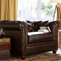 CHESTERFIELD LEATHER ARMCHAIR