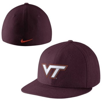 Nike Virginia Tech Hokies True Colors Authentic Performance Fitted Hat - Red