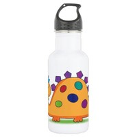 Cute and colorful cartoon spotted dinosaur 18oz water bottle