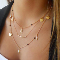 Fashion Gold Leaf Necklace