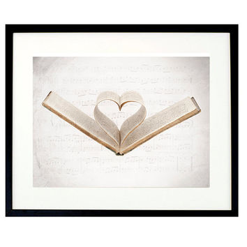 i love you print, Valentine, Sheet music print, Music note, Book lover gifts