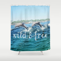 Wild & Free Shower Curtain by Beth - Paper Angels Photography