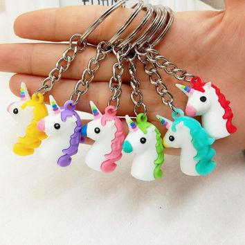 Glitter Donkey Unicorn Keychain - 6 Color Options!