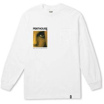 HUF - PENTHOUSE MAY 1981 POCKET LS TEE \\ WHITE