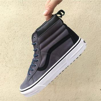 ONETOW Vans Sk8-hi MTE Grey/blue non-slip large floor shoes shoes for men and women