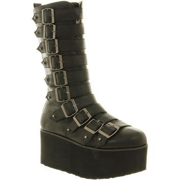 Office Gothic boot black pu