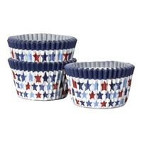 Set of 50 4th of July Mini Cupcake Papers | Crate&Barrel