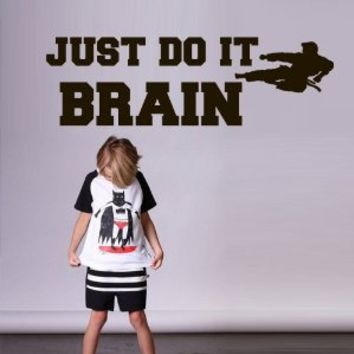 Just Do it Motivational Quote Custom name Wall Decal Decals Stickers Nursery Pattern Baby M1738