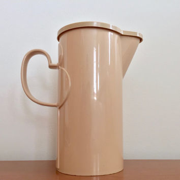 Vintage Dansk Plastic Pitcher -- Tan