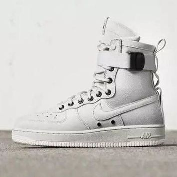 ESBBE6 Nike Air Force 1 AF1 High Tops White For Women Men Running Sport Casual Shoes Sneakers