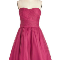ModCloth Short Length Strapless Fit & Flare Ballroom Glow Dress