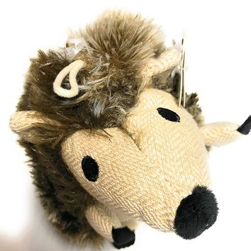 Earthrite Plush Squeaky Hedgehog pet Toy, Large