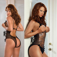 On Sale Hot Deal Cute Plus Size Transparent Sexy Sleepwear Exotic Lingerie [6595841539]