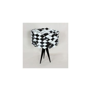 dCOR design The Black Jack Table Lamp with Drum Shade