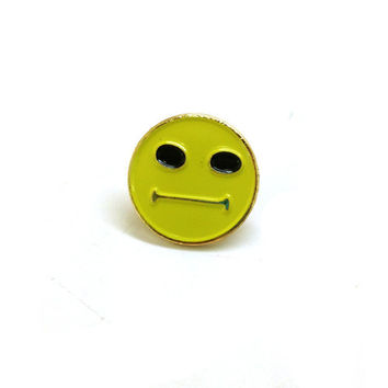 Enamel Pin Hmm Face