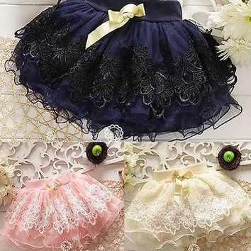 OB Baby Princess Floral Diaper Cover Girls Tutu Dress
