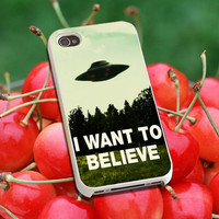 I Want To Believe X-Files Art - Phone case for iPhone 4/5/5s/5c,Samsung Galaxy S2/S3/S4/S5, S3/S4 mini ,ipod touch 4/5, Series