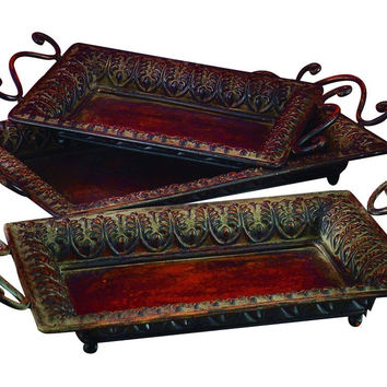 Metal Tray Set Of 3 To Serve In Style