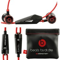 ONETOW Monster Beats By Dr Dre Ibeats in Ear Headphones Earphones Black - (Supplied with no retail packaging)