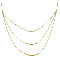 """14k Yellow Gold Tripple Bar Necklace, 18"""""""