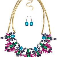Audrina Necklace Set in Purple