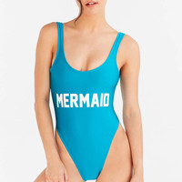 Private Party Mermaid One-Piece Swimsuit - Urban Outfitters