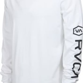 RVCA Cinch L/S T-Shirt - white - Men's Clothing > Shirts > T-Shirts > Long Sleeve T-Shirts