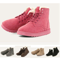 5 Colors Top Fashion Women Winter boots Leather With Cashmere Warm Snow boots = 1931429252