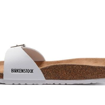 Birkenstock Madrid Birko-Flor sandals for Women Men flip flops shoes