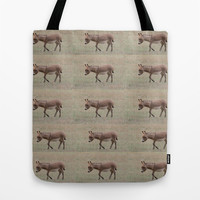 Baby Donkey Multiplied Tote Bag by Veronica Ventress