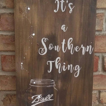 Front porch decor - southern decor - country style decor - mason jar decor - mason jar wood sign