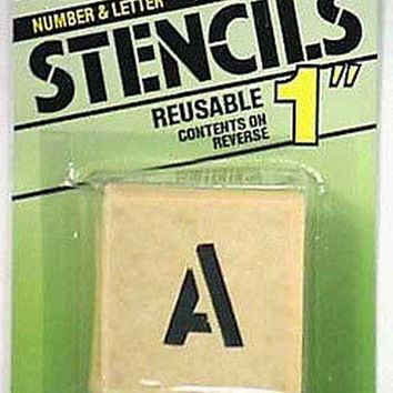 Hy-Ko ST-1 Reusable Numbers/Letters/Symbols Stencil Set, 1""