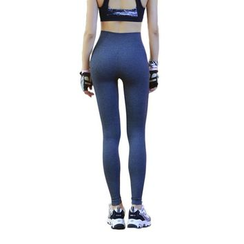 Fitness Workout Trousers Elastic High Waist Pencil Pants Leggins