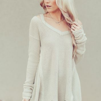Cold Shoulder Thermal Tunic