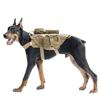 2018 Outdoor army tactical dog lost clothes suit vest with accessory kit Police dogs pet mascotas pet shop dog Accessory 8B0024