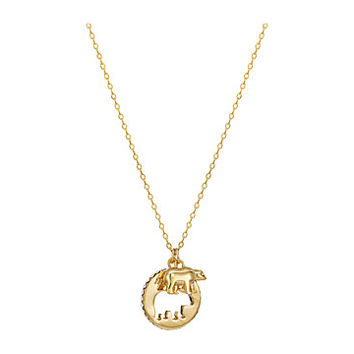 Kate Spade New York Mom Knows Best Mama Bear Pendant Necklace