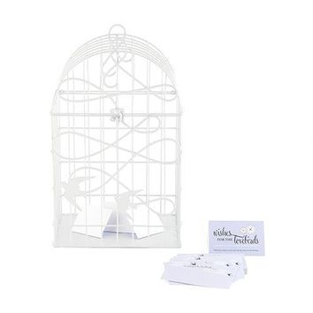 Modern Decorative Birdcage with Birds in Flight - White (Pack of 1)